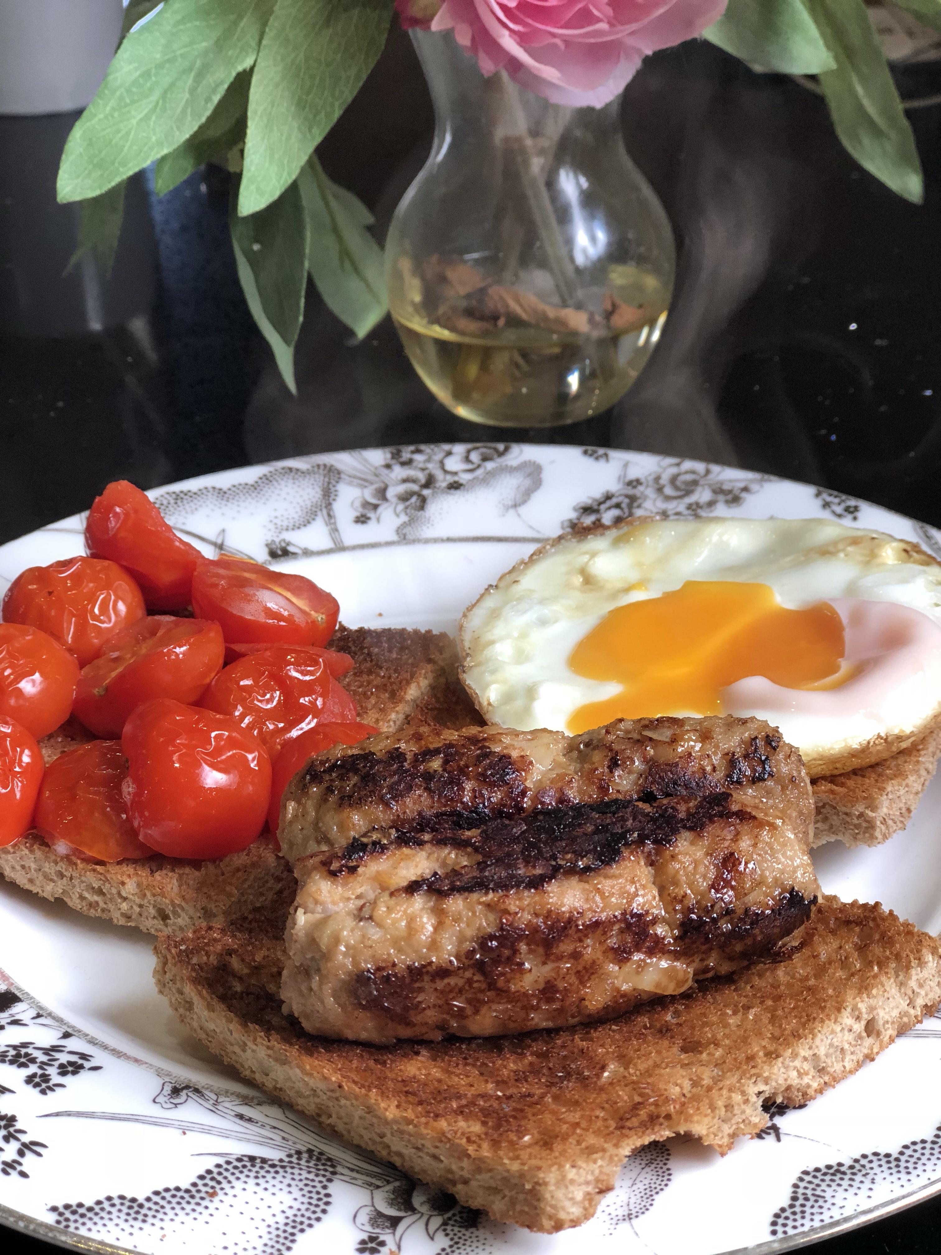 Pork_honey_and_mustard_sausages